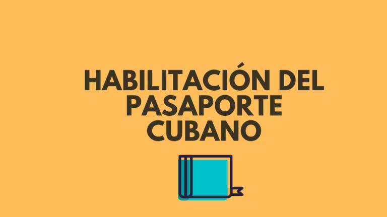 habilitar pasaporte cubano